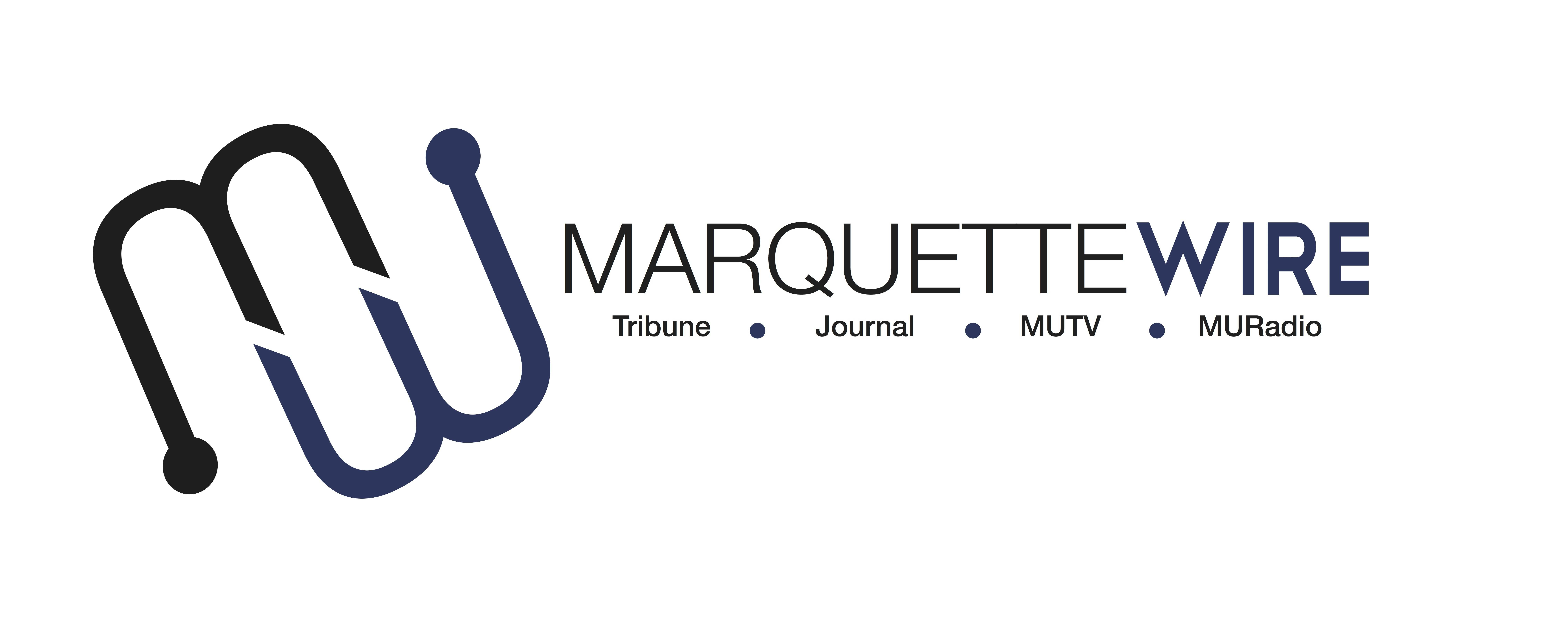 In a new brand of student media, the campus newspaper, magazine, TV and radio work together as one staff, entering our fourth year as the Marquette Wire. This is the new logo, designed for this year.