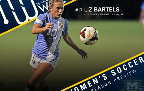 Liz Bartels has double-digit point totals in each of her three seasons as a Golden Eagle.