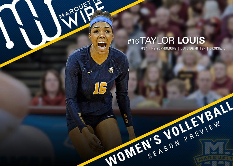 Outside+hitter+Taylor+Louis+averaged+the+fifth-most+kills+in+the+country+during+her+freshman+season.