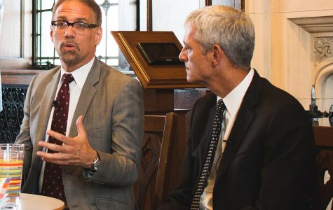 President Lovell visits Academic Senate meeting, discusses Myers departure