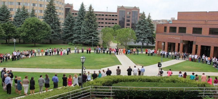 The Marquette community gathered in a prayer for peace following violence in Sherman Park this month. As the administration announces plans for promoting change, student solidarity cannot stop here.