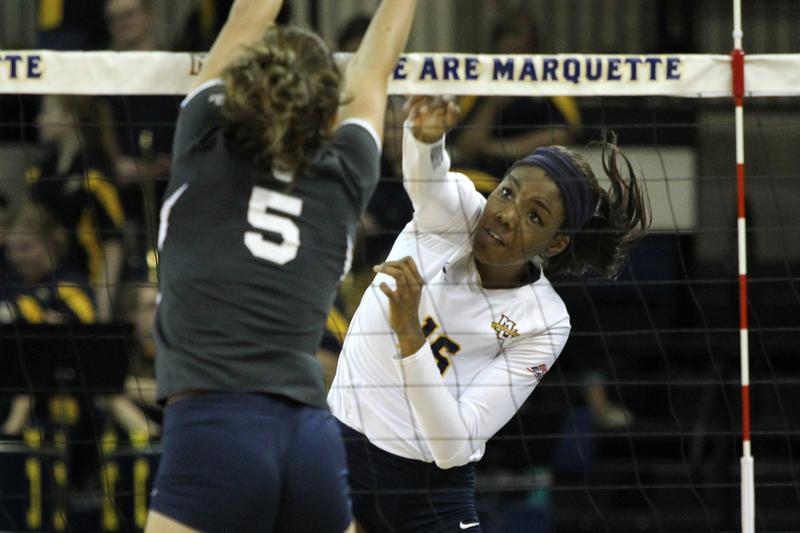 Taylor Louis recorded a career-high 16 digs against Kentucky.