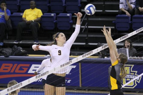 Marquette women's volleyball team defeated by Pitt in last Big East game