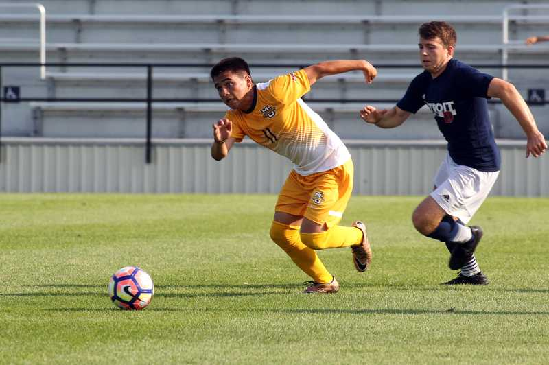 Connor Alba scored his second goal of the season in the 67th minute.