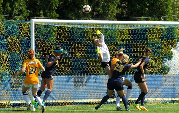Maddy Henry made seven saves in her busiest game of the year.