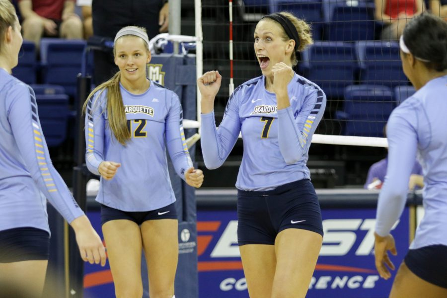 Marquette+volleyball+has+the+second-most+wins+in+the+BIG+EAST.