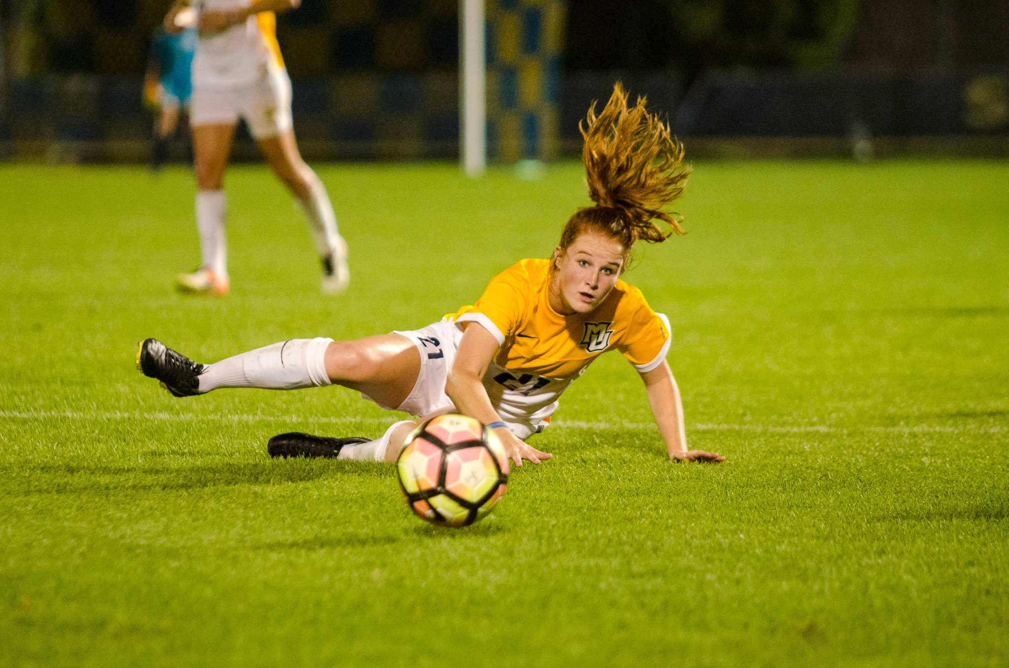 Carrie Madden scored one of Marquette's two goals Sunday afternoon.