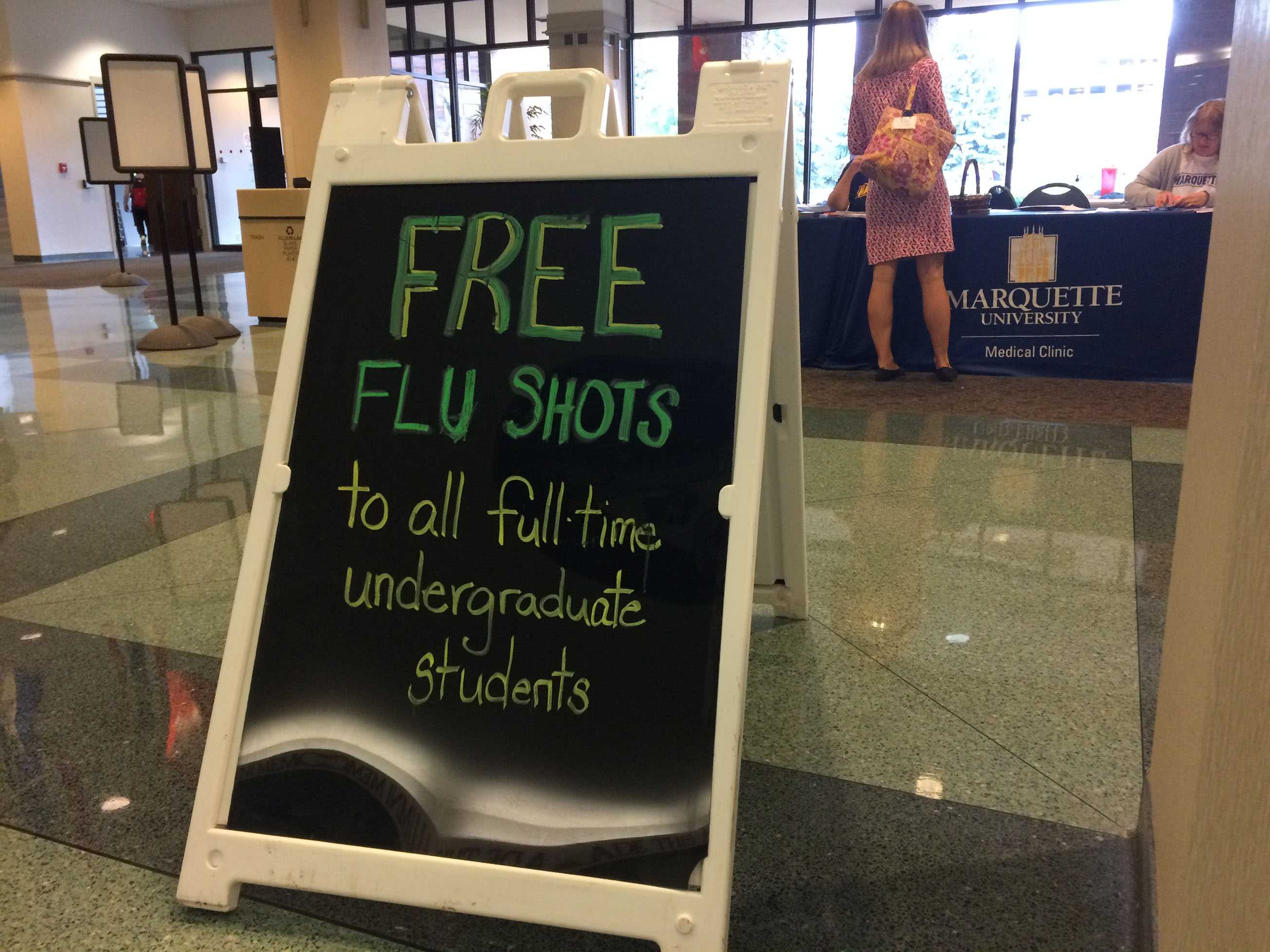 Flu vaccines are available on four locations on campus.