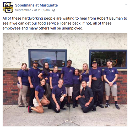 Sobelmans effectively used social media to win the support of the Marquette community.