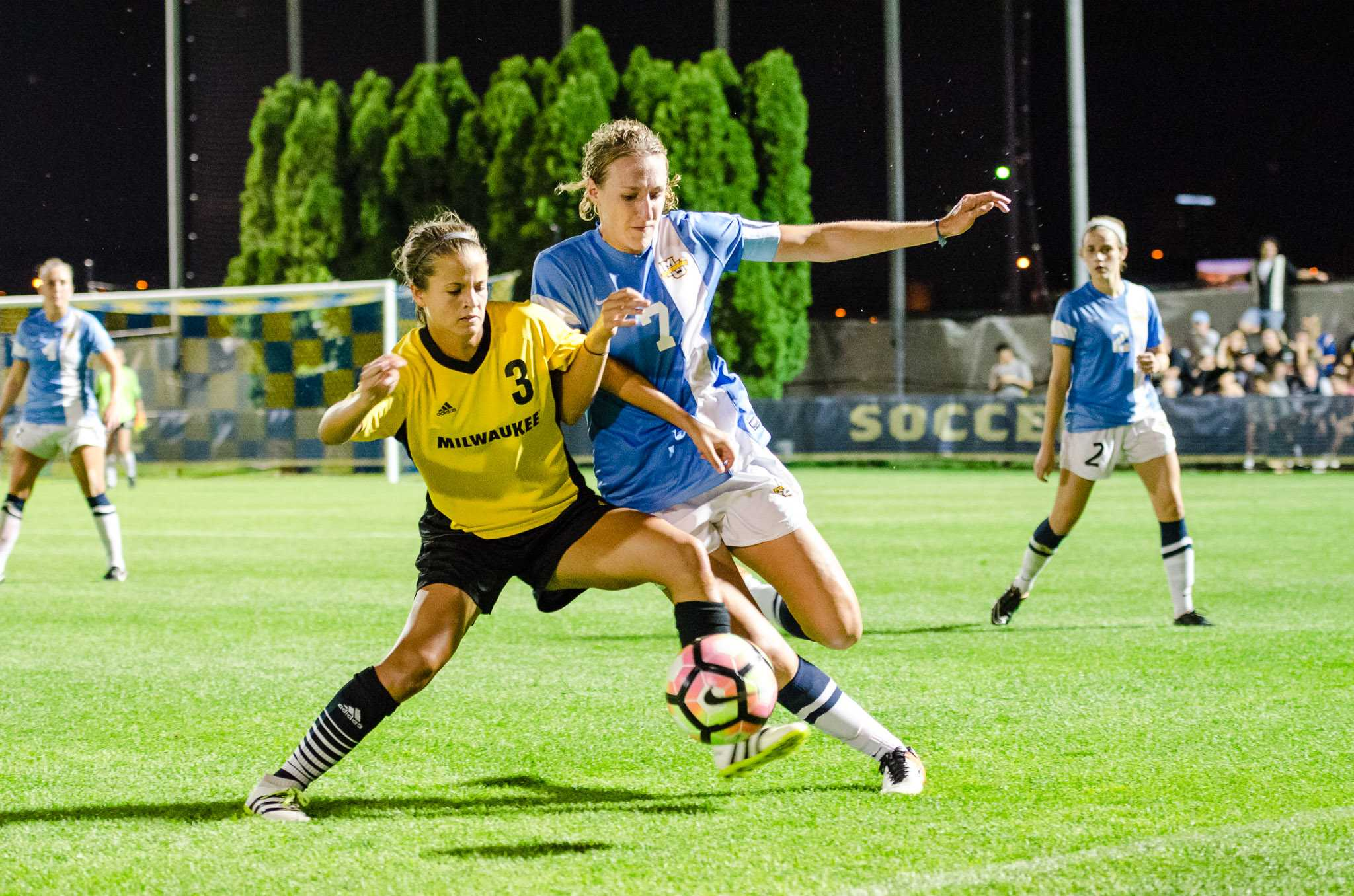 Morgan Proffitt was busy in the second half, as she was at the center of a majority of Marquette's corner kicks.