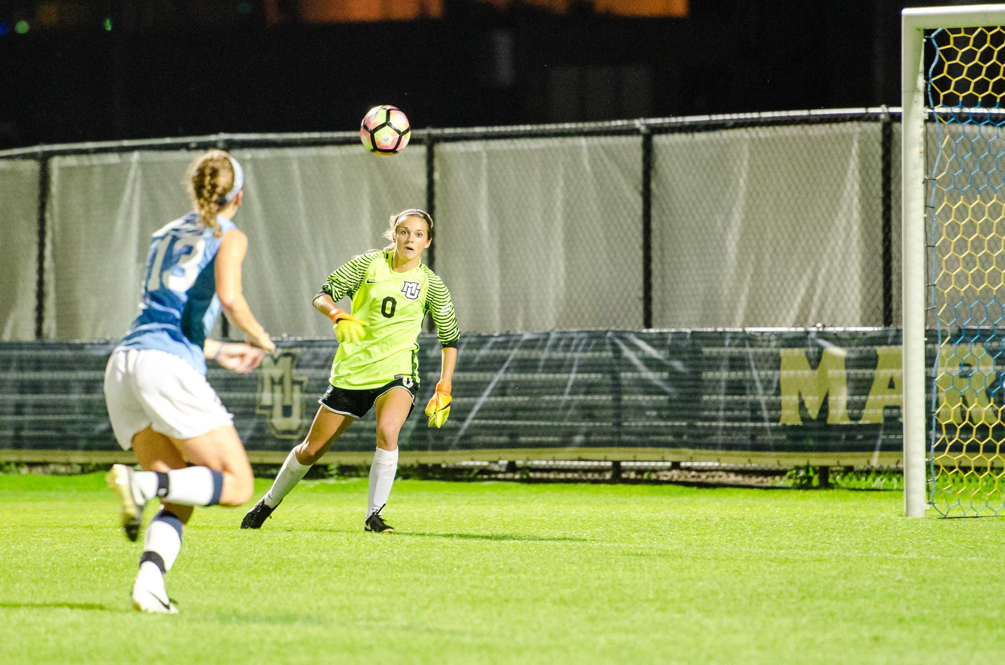 Maddy Henry made eight saves in the losing effort.