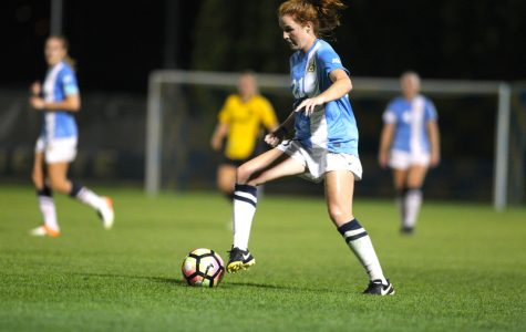 Carrie Madden scored Marquette's first goal in a 2-0 victory on Wednesday.