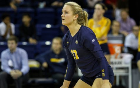 Volleyball 'digging' Houg's  calm on-court presence