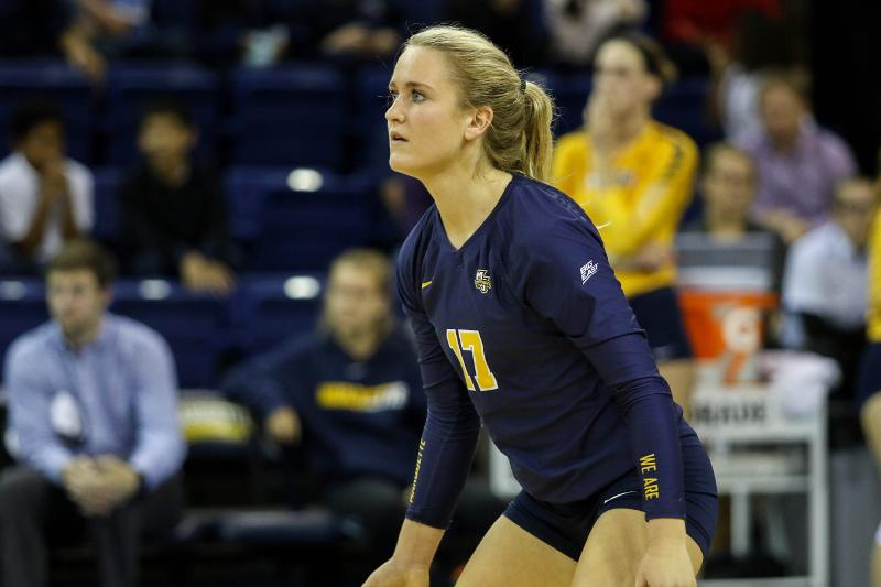 Volleyball digging Hougs  calm on-court presence