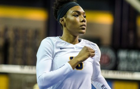 Taylor Louis is the second Marquette player in program history to net 1,000 kills as a sophomore.