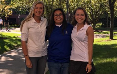From left to right: Meghan Zech (president), Savanna Vega-Schwartz and Kathryn Cichon (Vice President).