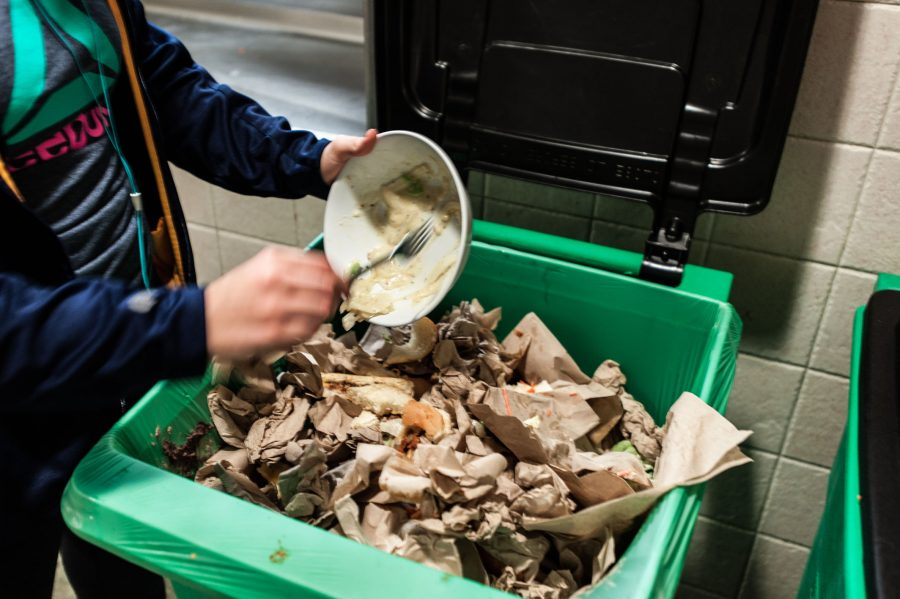 Dining hall compost bins encourage student involvement