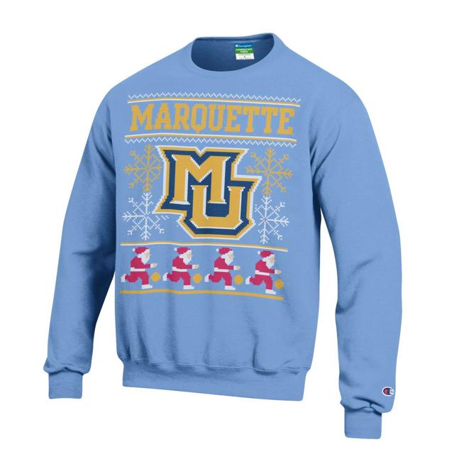 Photo+courtesy+of+Larry+Birkett%0AThe+2016+edition+of+Marquette%27s+ugly+Christmas+sweater+seeks+to+present+tradition+with+a+holiday+twist.