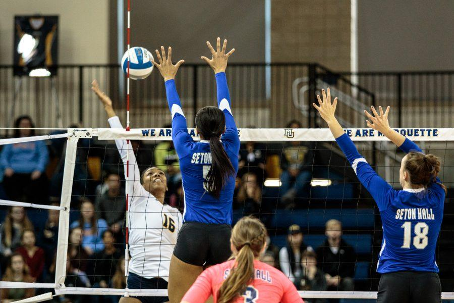 Niemann gets 1,000th kill as volleyball defeats Seton Hall