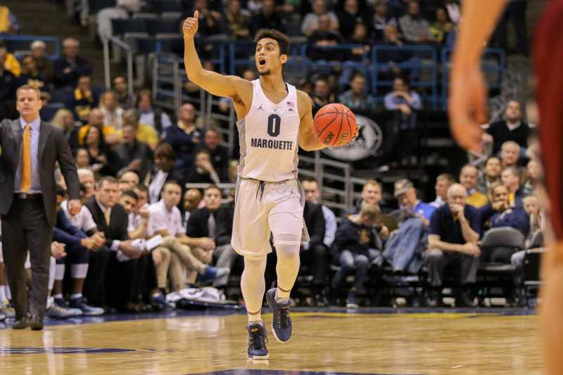 Markus Howard was one of a handful of youthful players in Tuesday's starting lineup.