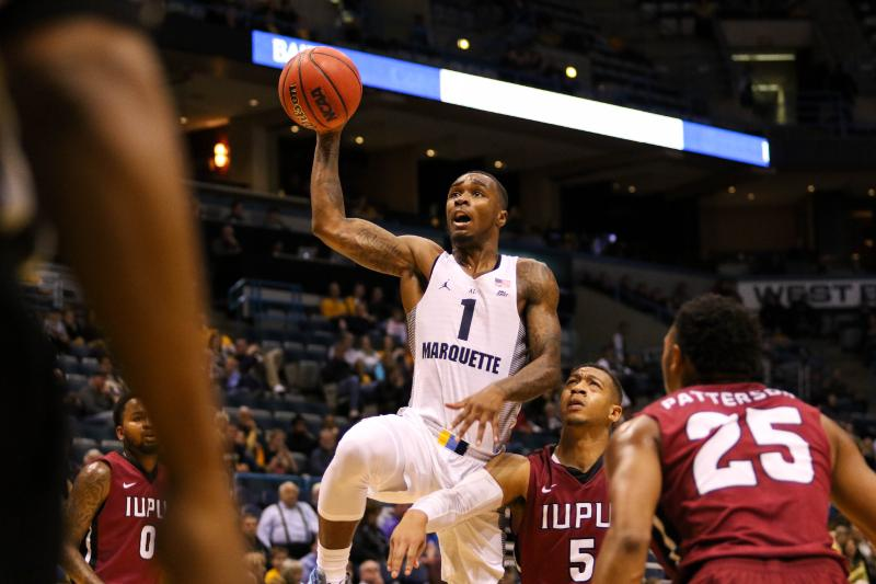 Duane+Wilson+scored+13+points+in+Marquette%27s+victory+against+IUPUI.