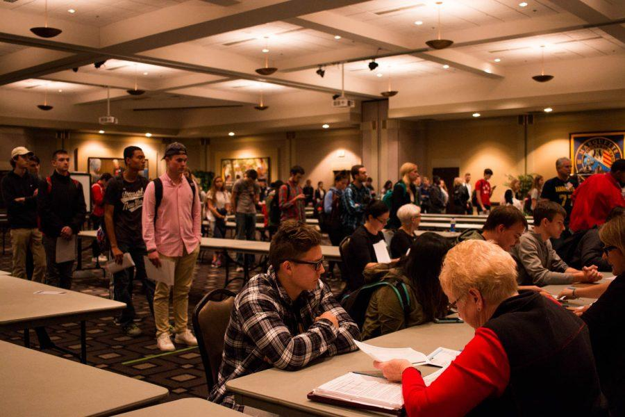 Students were able to vote in their first presidential election Nov. 8, in hopes to steer the country in a direction they wished to see. Photo by Meredith Gillepsie/meredith.gillepsie@marquette.edu