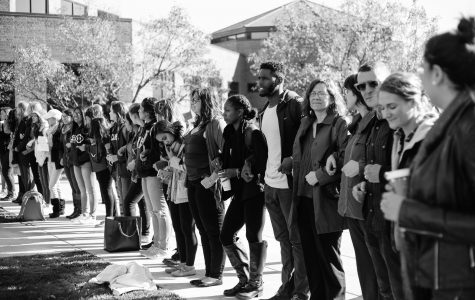 The Westowne Square gathering of many students and faculty standing and joining hands was important for this campus community because it was a physical and visual representation of the unity we must foster.