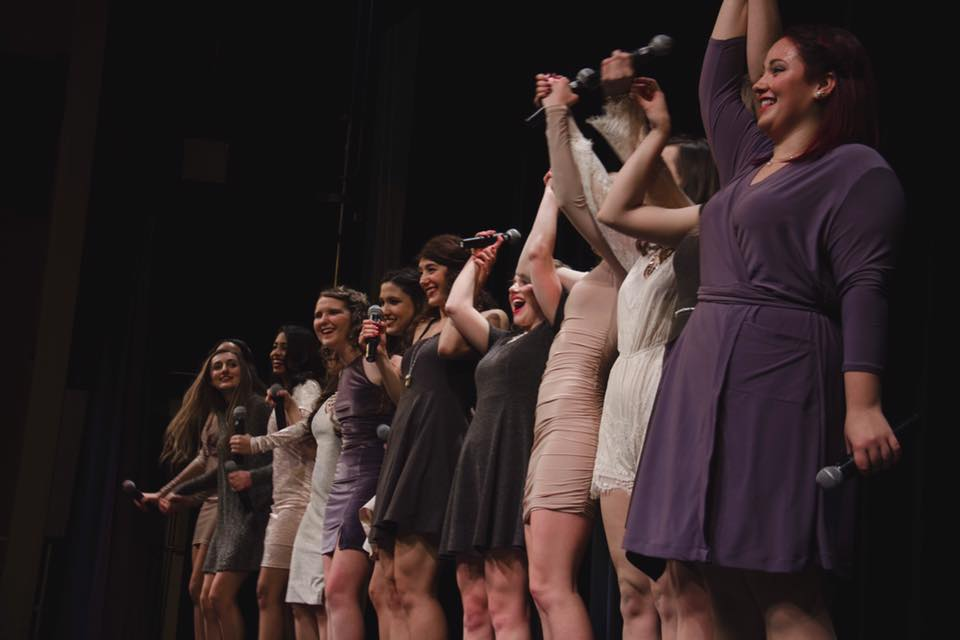 The Meladies perform in their Fall 2016 concert. Photo by Timothy LaRose