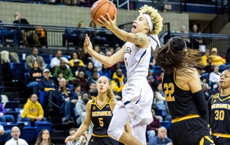 Natisha Hiedeman scored seven points in the fourth quarter of Marquette's victory against UW-Milwaukee.