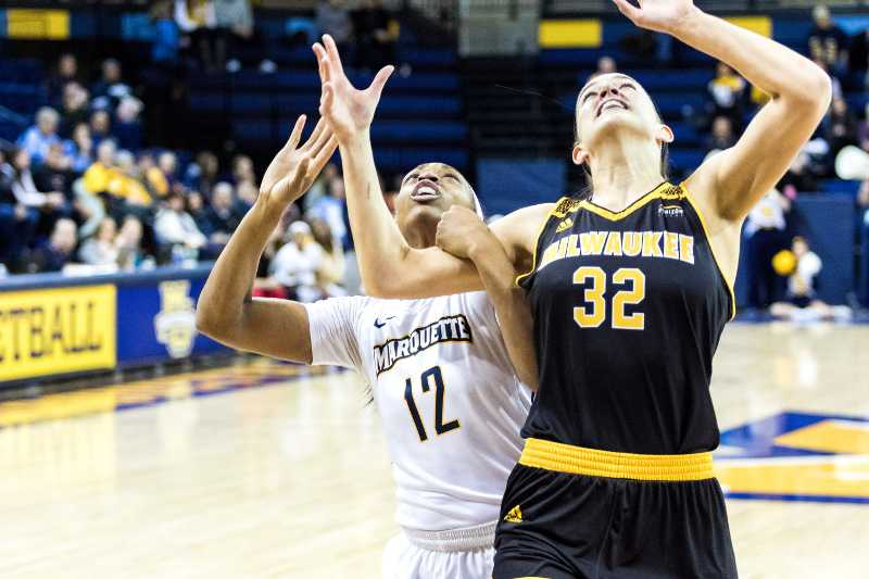 Erika Davenport recorded her eighth double-double of the season against Villanova.