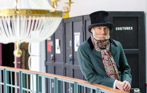 President Michael Lovell had a costume fitting for his cameo role in Milwaukee Rep's 'A Christmas Carol.'