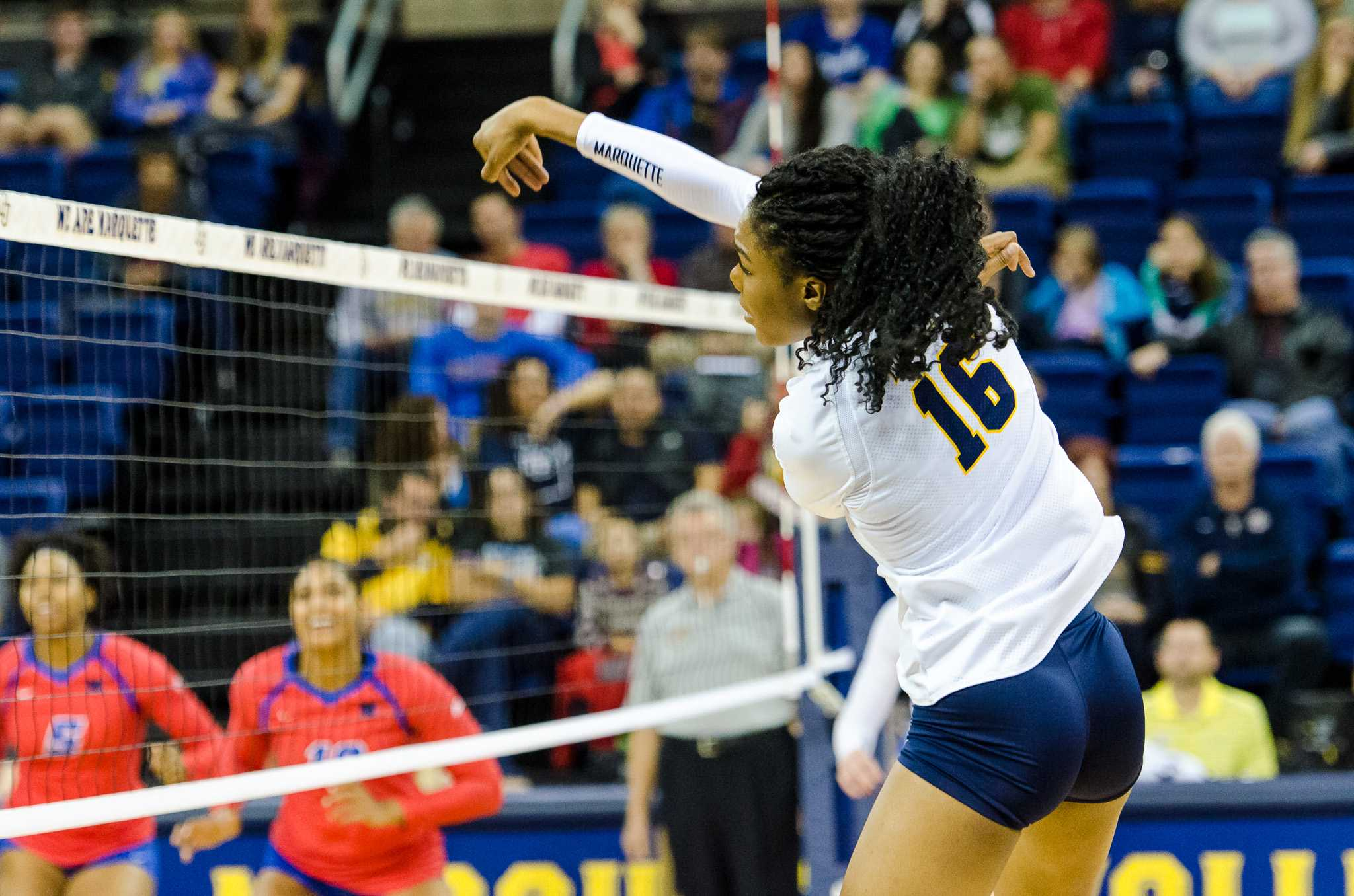 Taylor Louis had 18 kills in the Golden Eagles' final match of the season.