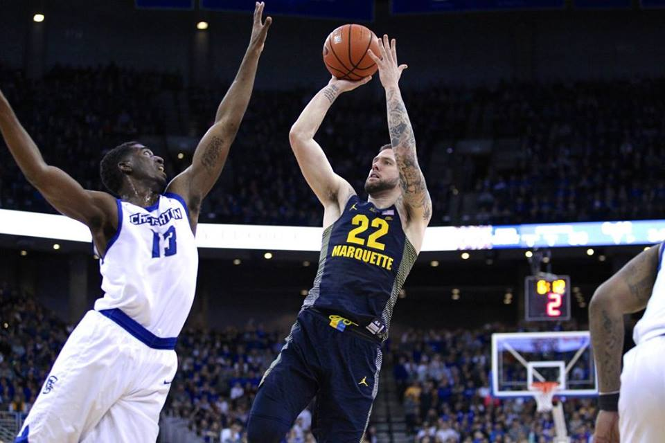 Katin Reinhardt scored 21 points in Marquette's victory against No. 7 Creighton
