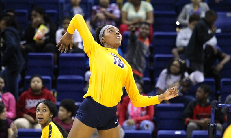Taylor+Louis+is+the+fastest+player+in+Marquette+program+history+to+reach+1%2C000+kills.