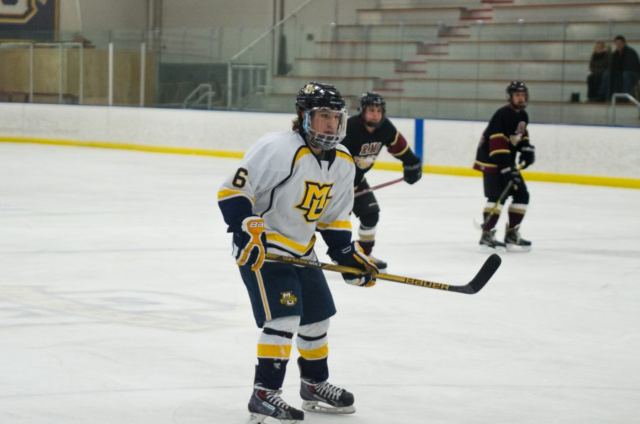 Michael Desalvo scored in Marquette's first game against Bradley this weekend.