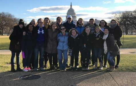 Pro-life students support March for Life on campus, in Washington DC