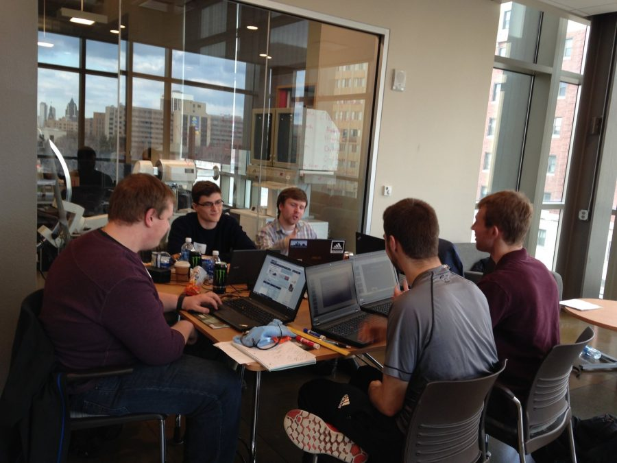 Students+participate+in+a+hackathon+to+improve+the+lives+of+the+elderly.+Photo+by+Matt+Harte%2Fmatthew.harte%40marquette.edu