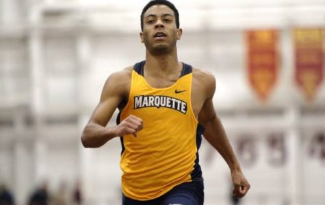Junior Joshua Word posted the second-fastest 60-meter dash time in Marquette history at the UW Shell Shocker