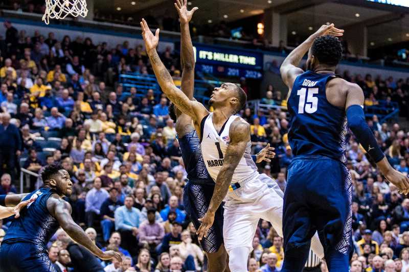 Duane Wilson played 23 minutes in Marquette's loss to Georgetown.