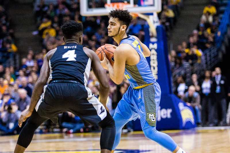 Markus Howard led the team in scoring in Marquette's loss to Providence Saturday.