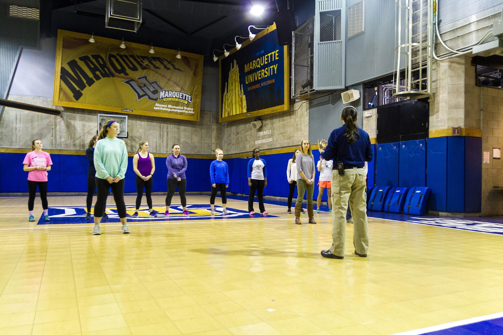 Students attend a MUSG sponsored self-defense class Feb. 10