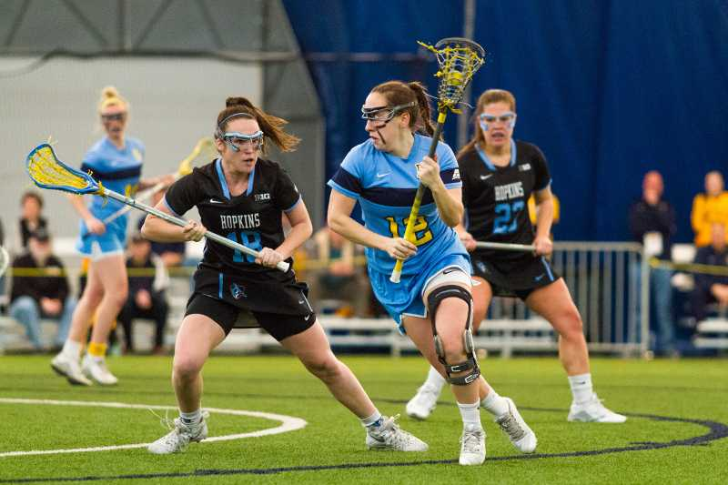 Claire+Costanza+attacks+during+Marquette%27s+game+Saturday+against+Johns+Hopkins.
