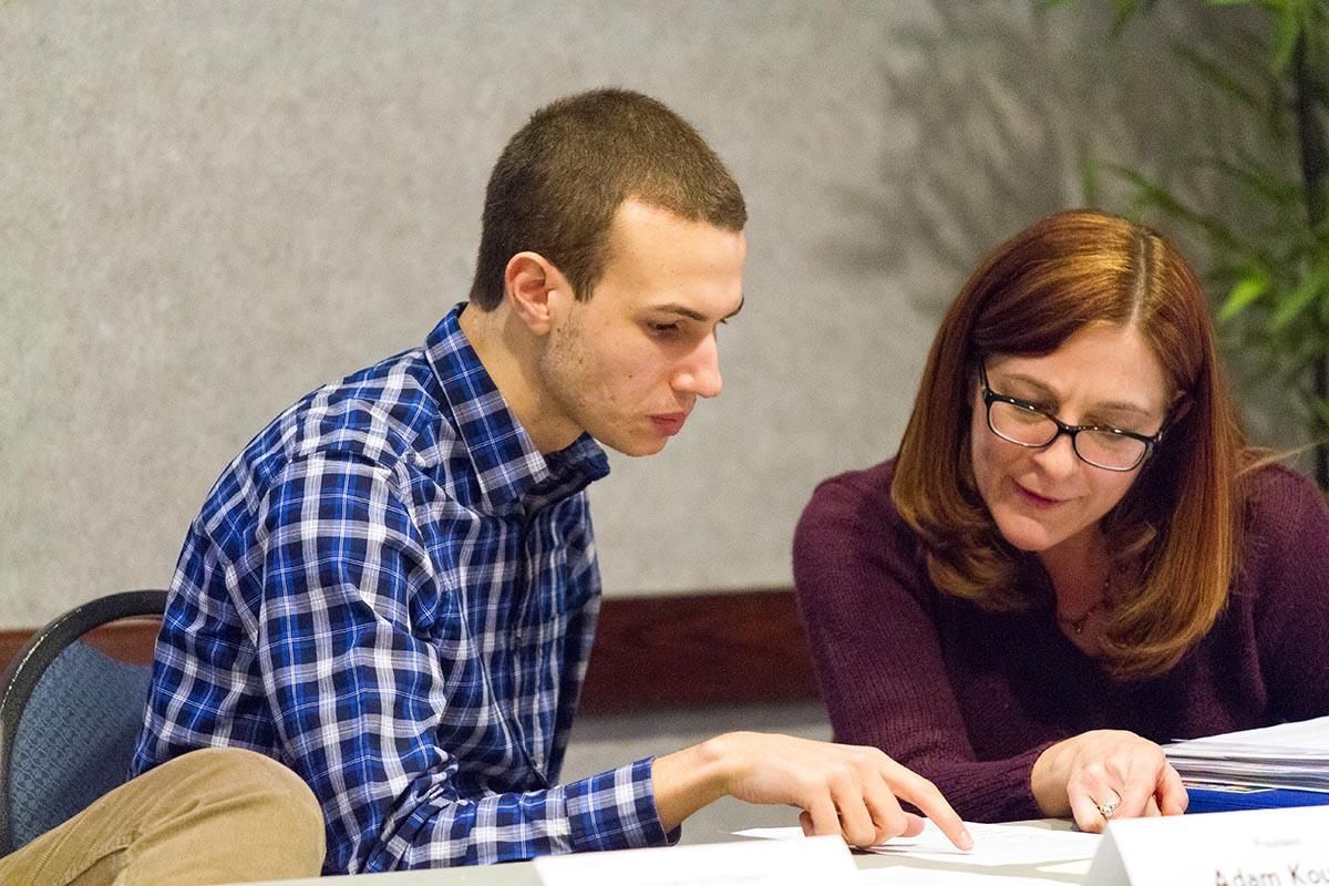 MUSG President Adam Kouhel and MUSG advisor Jen Reid