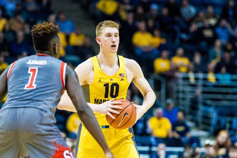 Sam Hauser scored a team-leading 19 points against St. Johns Saturday.