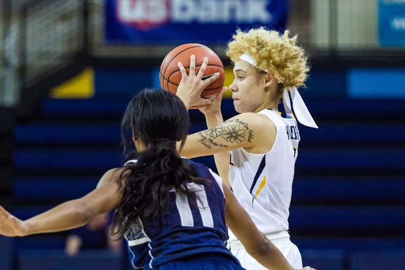 Natisha Hiedeman scored a team-leading 18 points against Georgetown Friday night.