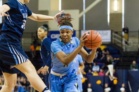 Allazia Blockton led Marquette with 16 points in a victory against Villanova Sunday.