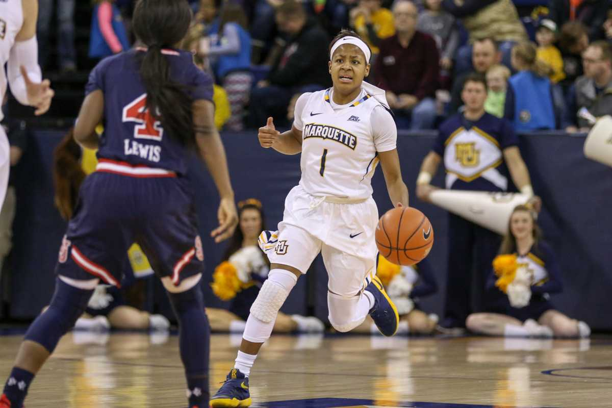 Danielle King grabbed nine rebounds against St. John's Sunday.