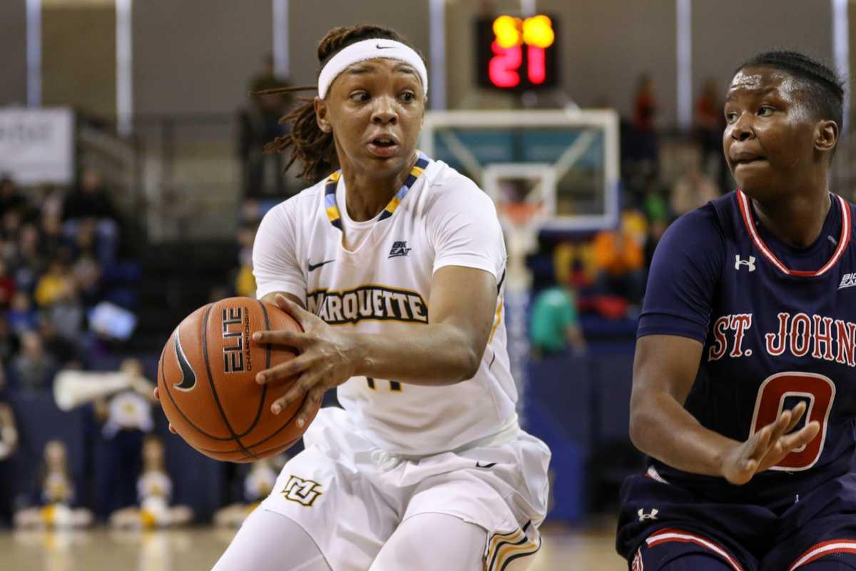 Allazia Blockton scored her 1,000th point against Xavier Sunday.