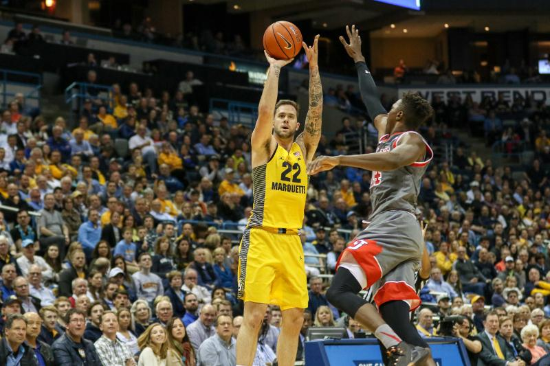 Katin Reinhardt has been at the center of Marquette's late offensive woes, missing shots against Providence in both losses.