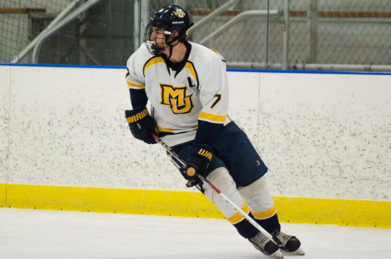 Adam Benkovich has tallied 11 goals during his final season in the blue and gold